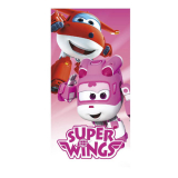 Osuška Super Wings pink