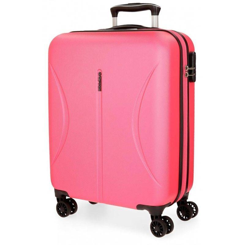 ABS Cestovný kufor Roll Road Camboya Pink 55 cm