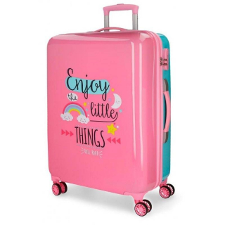 ABS Cestovný kufor Roll Road Little Things Pink 67 cm