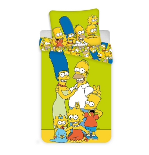 Obliečky Simpsons Family green
